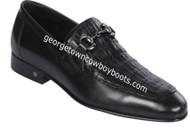 Men's Lombardy Caiman Belly And Calf Leather Dress Shoe ZLD018205