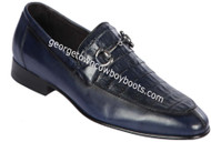 Men's Lombardy Caiman Belly And Calf Leather Dress Shoe ZLD018210