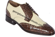 Men's Lombardy Caiman Belly And Calf Leather Dress Shoe ZLM018267