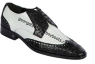 Men's Lombardy Caiman Belly And Calf Leather Dress Shoe ZLM018255