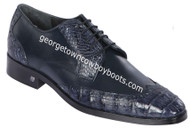 Men's Lombardy Caiman Belly And Calf Leather Dress Shoe ZLM018210