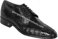 Men's Lombardy Caiman Belly And Calf Leather Dress Shoe ZLM018205