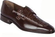Men's Lombardy Caiman Belly And Calf Leather Dress Shoe ZLM038207