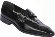 Men's Lombardy Caiman Belly And Calf Leather Dress Shoe ZLM038205
