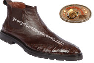 Men's Lombardy Caiman Belly And Ostrich Leather Dress Shoe ZLM078207