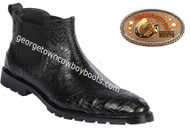 Men's Lombardy Caiman Belly And Ostrich Leather Dress Shoe ZLM078205