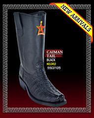 Caiman Tail Biker Mens Boot by Los Altos Black-55C0105