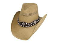 More Than Words Straw Hat by Bullhide & Montecarlo Style 2644
