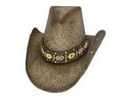 Love Myself Straw Hat by Bullhide & Montecarlo Style 2882