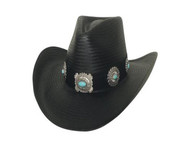 A Night To Shine Straw Hat by Bullhide & Montecarlo Style 2968