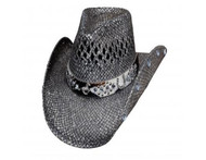 Facing Fears Straw Hat by Bullhide & Montecarlo Style 2833