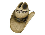 Shut Up And Ride Straw Hat by Bullhide & Montecarlo Style 2645