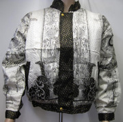 Baroque 90s Bomber Jacket Silk