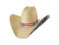 Truly American Straw Hat by Bullhide & Montecarlo Style 5002
