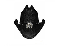 ItchyGoonie Straw Hat by Bullhide & Montecarlo Style 2223BL