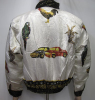 My 3 Animals the Goat,the Parrot & Rooster Bomber Jacket