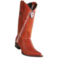 Men's Wild West Caiman Belly Print Boots 3x Toe Boots Handcrafted 6955903