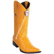 Men's Wild West Ostrich Print Boots 3X Toe Handcrafted 6950302