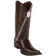Men's Wild West Ostrich Print Boots 3X Toe Handcrafted 6950307
