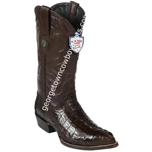 Men's Wild West Caiman Tail J Toe Boots Handcrafted 2990107