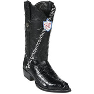 Men's Wild West Caiman Tail J Toe Boots Handcrafted 2990105