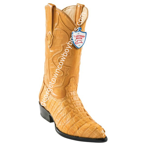 Men's Wild West Caiman Tail J Toe Boots Handcrafted 2990102