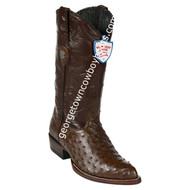 Men's Wild West Full Quill Ostrich J Toe Boots Handcrafted 2990307