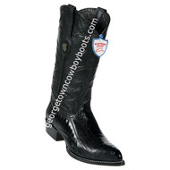 Men's Wild West Ostrich Leg J Toe Boots Handcrafted 2990505