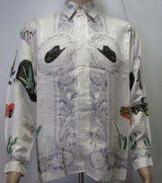 Cannabis Leaf Silk Shirt Front view