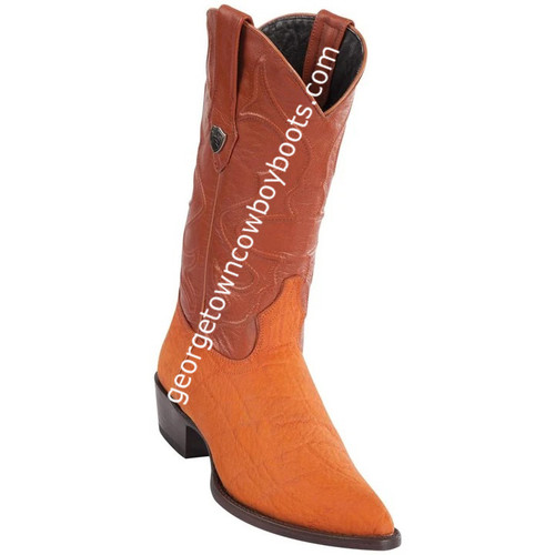 Men's Wild West Elephant Print Boots J Toe Handcrafted 6997003