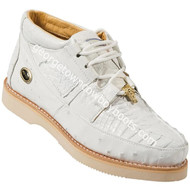 Men's Wild West Caiman With Ostrich Casual Shoes Handcrafted 2ZA050228