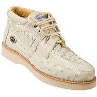 Men's Wild West Caiman With Ostrich Casual Shoes Handcrafted 2ZA050204
