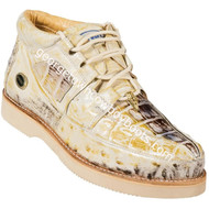 Men's Wild West Caiman With Ostrich Casual Shoes Handcrafted 2ZA050249