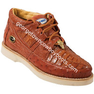 Men's Wild West Caiman With Ostrich Casual Shoes Handcrafted 2ZA050203