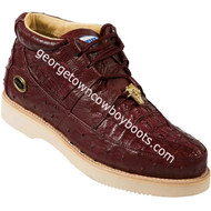 Men's Wild West Caiman With Ostrich Casual Shoes Handcrafted 2ZA050206