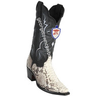Women's Wild West Python Boots Snip Toe Handcrafted 2345749