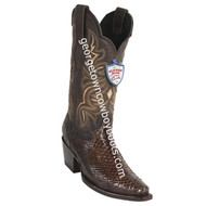 Women's Wild West Python Boots Snip Toe Handcrafted 2345707