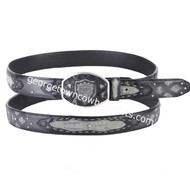 Wild West Caiman Belly Belt With Leather Lining 2C11FE8238