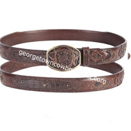 Wild West Caiman Belly Belt With Leather Lining 2C11FE8216