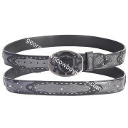 Wild West Shark Belt Faded Gray With Leather Lining 2C11FE9338