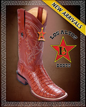 Caiman Alligator Belly Rodeo Western Boots Cognac -  8228203