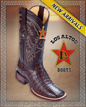Caiman Alligator Belly Rodeo Western Boots  8228207 Brown -