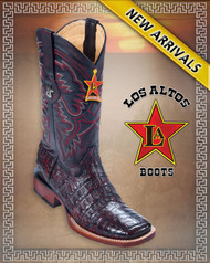 Caiman Alligator Belly Rodeo Western Boots  8228218-Black Cherry