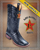 Caiman Alligator Belly Rodeo Western Boots  8228205-Black
