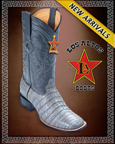 Caiman Belly Grey Cowboy Western Boots Rodeo Style Grey-8228209