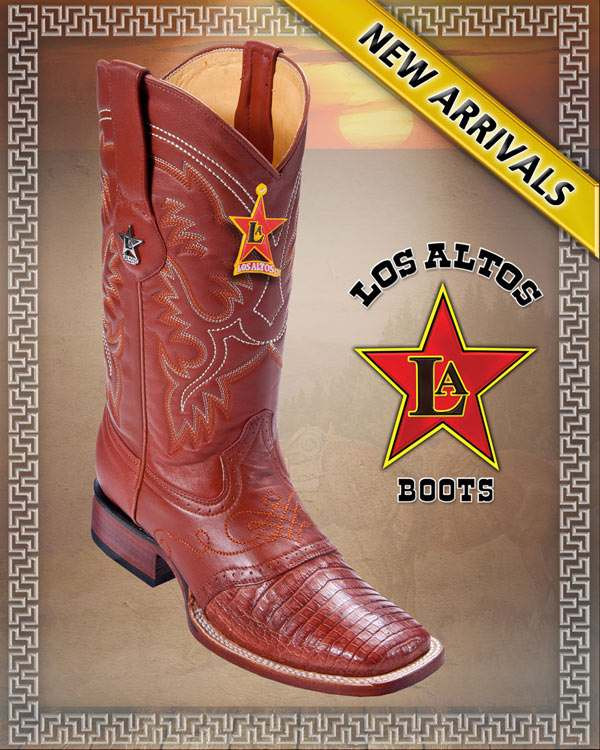 8626e2a56a9 CAIMAN ALLIGATOR BELLY SADDLE RODEO WIDE SQUARE TOE WESTERN COWBOY BOOTS  MEN'S by Los Altos Boots
