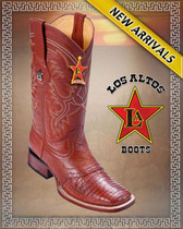 Caiman Belly Cognac Cowboy Western Boots Rodeo Style with Saddle, Cognac-8218203
