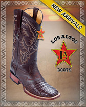 Los Altos Boots Caiman Belly Brown Saddle Style:8218207