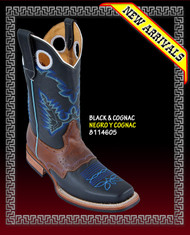 Rodeo Saddle Western Boots COLOR: BLACK / COGNAC  STYLE: 814605