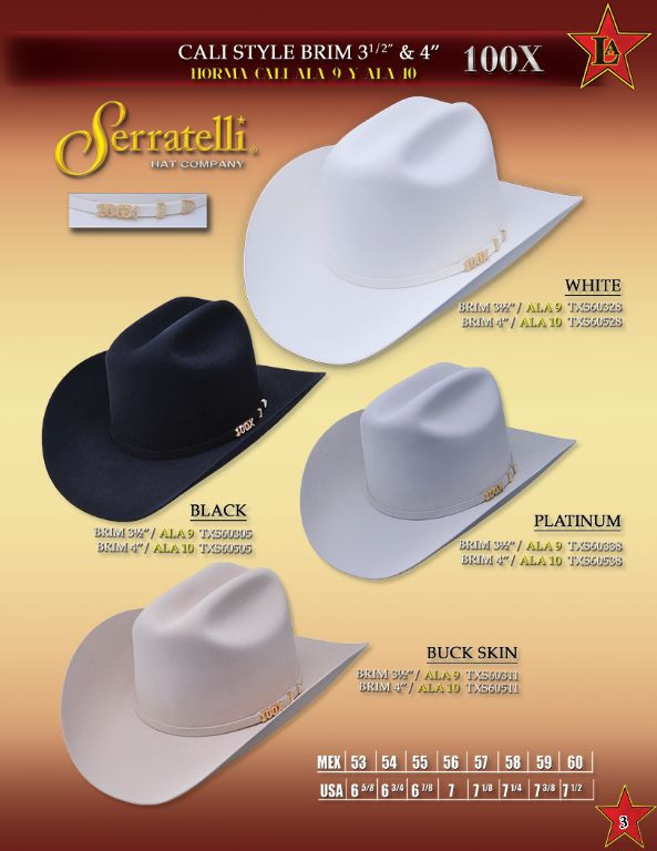 999df40ba0 Serratelli Cowboy western hat 100X beaver chocolate brown with a ...